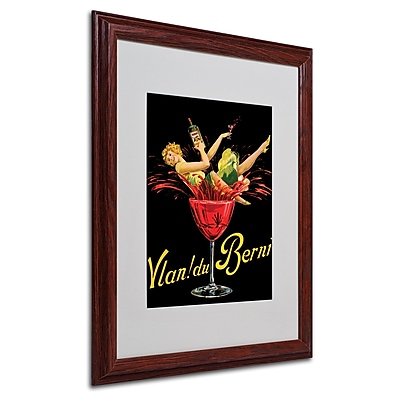 Vlan du Berni' Matted Framed Art - 16x20 Inches - Wood Frame