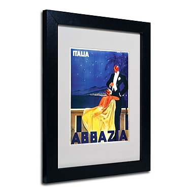 Trademark Fine Art 'Italia Abbazia' Matted Art Black Frame 11x14 Inches