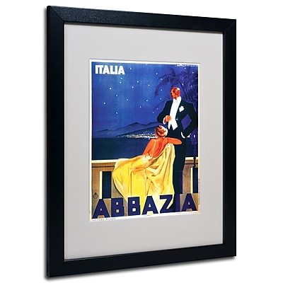 Trademark Fine Art 'Italia Abbazia' Matted Art Black Frame 16x20 Inches