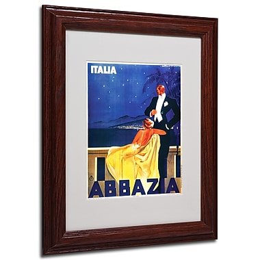 Italia Abbazia' Framed Matted Art - 11x14 Inches - Wood Frame