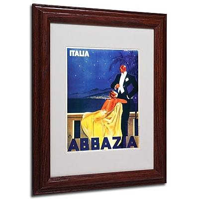 Italia Abbazia' Framed Matted Art - 11x14 Inches - Wood Frame
