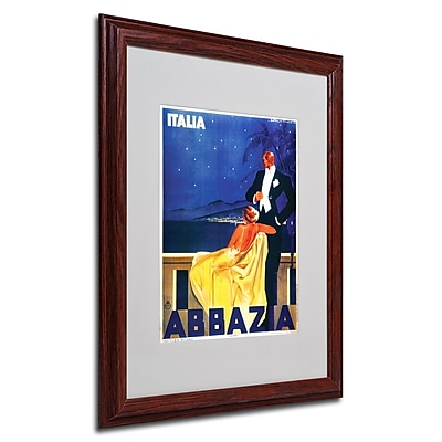 Italia Abbazia' Framed Matted Art - 16x20 Inches - Wood Frame