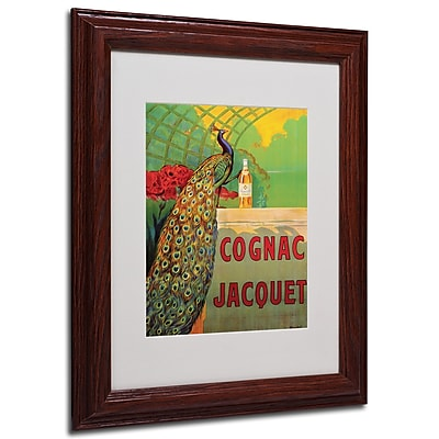 Camille Bouchet 'Cognac Jacquet' Framed Matted Art - 11x14 Inches - Wood Frame