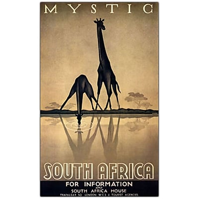 Trademark Fine Art Mystic South Africa by Gayle Ullman-10x19 Canvas Art 10x19 Inches