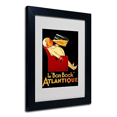 Trademark Fine Art 'Bon Bock' Matted Art Black Frame 11x14 Inches