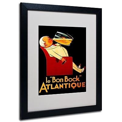 Trademark Fine Art 'Bon Bock' Matted Art Black Frame 16x20 Inches