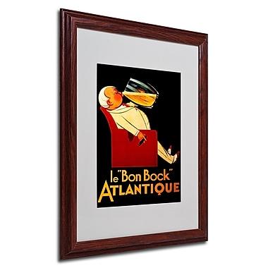 Bon Bock' Framed Matted Art - 16x20 Inches - Wood Frame
