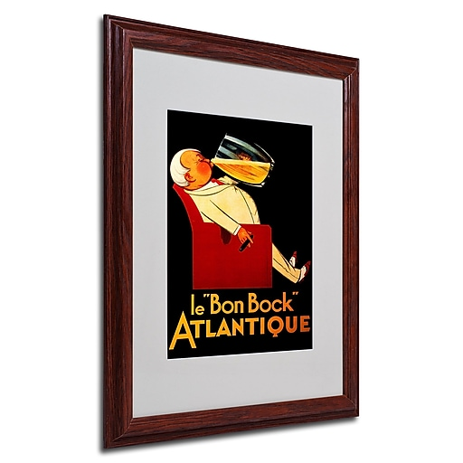 Bon Bock' Framed Matted Art - 16x20 Inches - Wood Frame