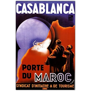 Trademark Fine Art Casablanca- Canvas Art