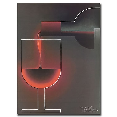 Trademark Fine Art Red Wine-Gallery Wrapped 26x32 Inches