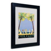 Jean Dumergue 'Cote D'Azur' Framed Matted Art - 16x20 Inches - Wood Frame