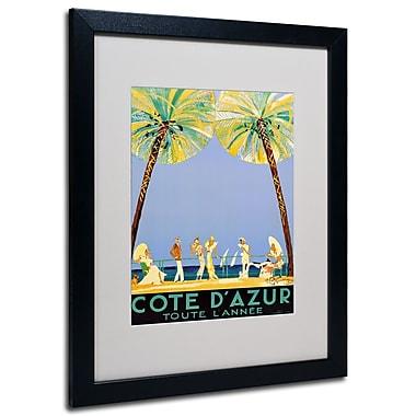 Trademark Fine Art Jean Dumergue 'Cote D'Azur' Matted Art Black Frame 16x20 Inches
