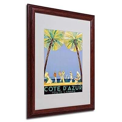 Jean Dumergue 'Cote D'Azur' Framed Matted Art - 16x20 Inches - Wood Frame