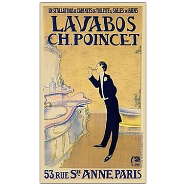 Trademark Fine Art Lavabos CH. Ponchet-Canvas Art