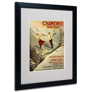Trademark Fine Art F.Tamanjo, 'Chamonix Mont Blanc' Matted Art Black Frame 16x20 Inches