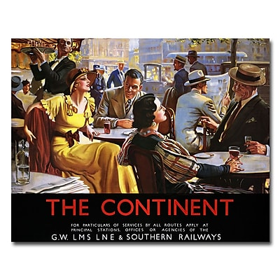 Trademark Fine Art The Continent by W. Broadhead-Ready to Hang Art