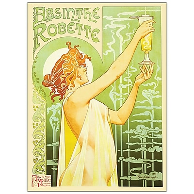 Trademark Fine Art Privat Livemont 'Absinteh Robette' Canvas Art Ready to Hang 14x19 Inches