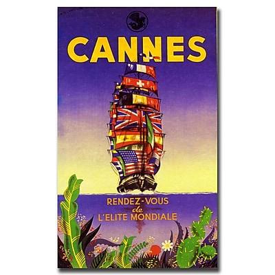 Trademark Fine Art Cannes by M. Pecnard-Gallery Wrapped Canvas Art
