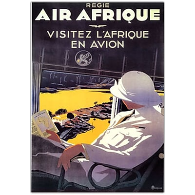 Trademark Fine Art Air Afrique by A. Roquin-Canvas Art 16x24 Inches