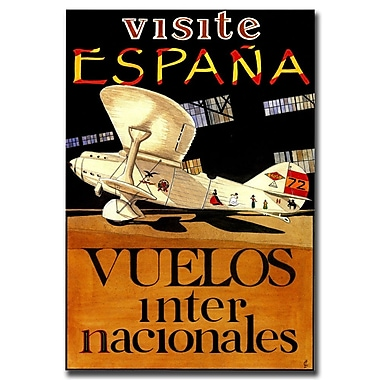 Trademark Fine Art Visit Espana-Gallery Wrapped Canvas Art