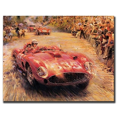Trademark Fine Art 5635 Racer-Gallery Wrapped Art Ready to Hang 14x19 Inches