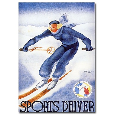 Trademark Fine Art Sports D'Hiver by Arou-Ready to Hang Art