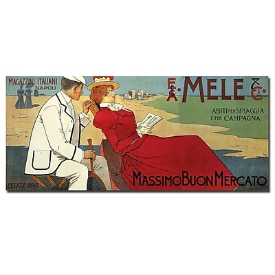 Trademark Fine Art Mele by Leopoldo Metlicovitz-Canvas Art
