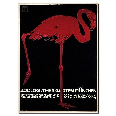 Trademark Fine Art Zoologischer Garten by Ludwig Hohlwein-Canvas Art