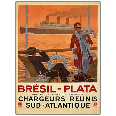 Trademark Fine Art Bresil Plata by Sandy Hook- Canvas Art