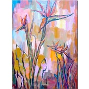 Trademark Fine Art Birds in Paradise by Wendra-Canvas Art Ready to Hang