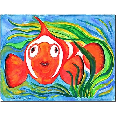 Trademark Fine Art Wendra 'Clown Fish' Canvas Art 35x47 Inches