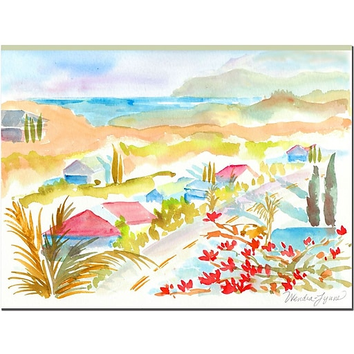 Trademark Fine Art Wendra 'Hawaii View' Canvas Art Ready to Hang 24x32 Inches