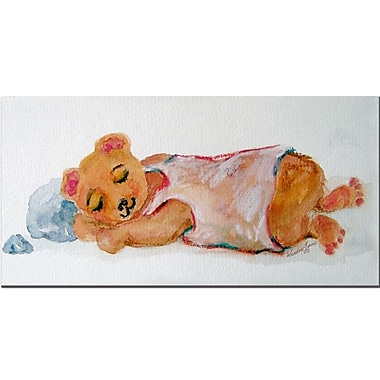 Trademark Fine Art Wentra 'Nap Time' Canvas Art 10x19 Inches
