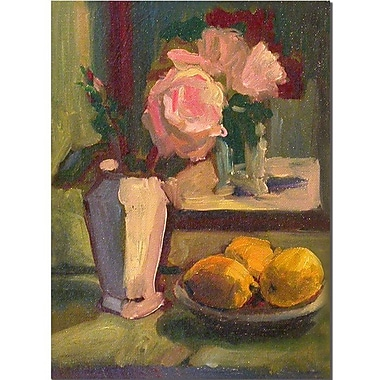 Trademark Fine Art Roses and Lemons by Wendra-Canvas Art Ready to Hang