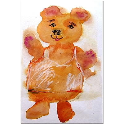 Trademark Fine Art Wendra 'Softy Bear' Canvas Art 14x19 Inches