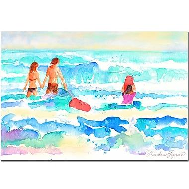 Trademark Fine Art Wendra 'Splash' Canvas Art Ready to Hang 24x32 Inches