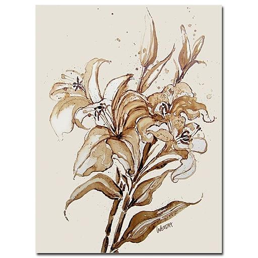 Trademark Fine Art Wendra 'Lily' Canvas Art 35x47 Inches
