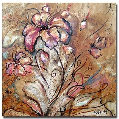 Trademark Fine Art Wendra 'Anenomie' Canvas Art 35x35 Inches