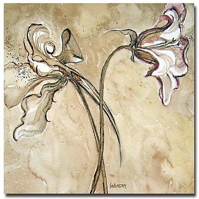 Trademark Fine Art Wendra 'Flower Talks' Canvas Art 35x35 Inches