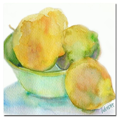 Trademark Fine Art Wendra 'Lemona' Canvas Art 35x35 Inches