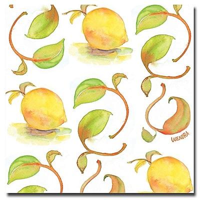 Trademark Fine Art Wendra 'Lemons' Canvas Art 18x18 Inches