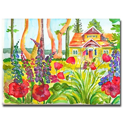 Trademark Fine Art Wendra 'Cottage Garden' Canvas Art 24x32 Inches