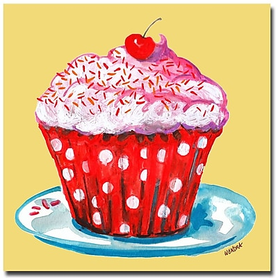 Trademark Fine Art Wendra 'Cupcake' Canvas Art 18x18 Inches