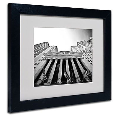 Trademark Fine Art Yale Gurney 'The New York Stock Exchange' Matted Art Black Frame 11x14 Inches
