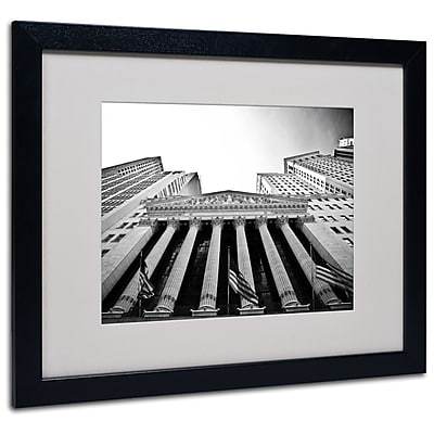 Trademark Fine Art Yale Gurney 'The New York Stock Exchange' Matted Art Black Frame 16x20 Inches