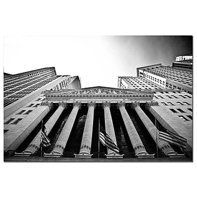 Trademark Fine Art Yale Gurney 'The New York Stock Exchange' Canvas Art 22x32 Inches