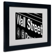 Trademark Fine Art Yale Gurney 'Wall Street Next' Matted Art Black Frame 11x14 Inches