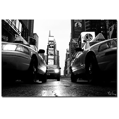 Trademark Fine Art Yale Gurne 'Broadway Taxis' Canvas Art 35x47 Inches
