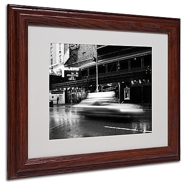 Yale Gurney 'The Majestic' Matted Framed Art - 11x14 Inches - Wood Frame