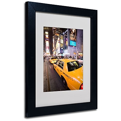 Trademark Fine Art Yale Gurney 'Big Lights' Matted Art Black Frame 11x14 Inches